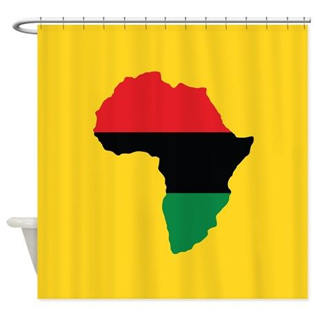 Red Black And Green Africa Flag Shower Curtain By Forgotten