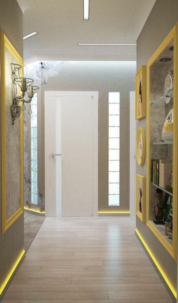 flur einrichten farbgestaltung flur grau und gelb fotos dekorationen weise tur flur gestaltung. Black Bedroom Furniture Sets. Home Design Ideas