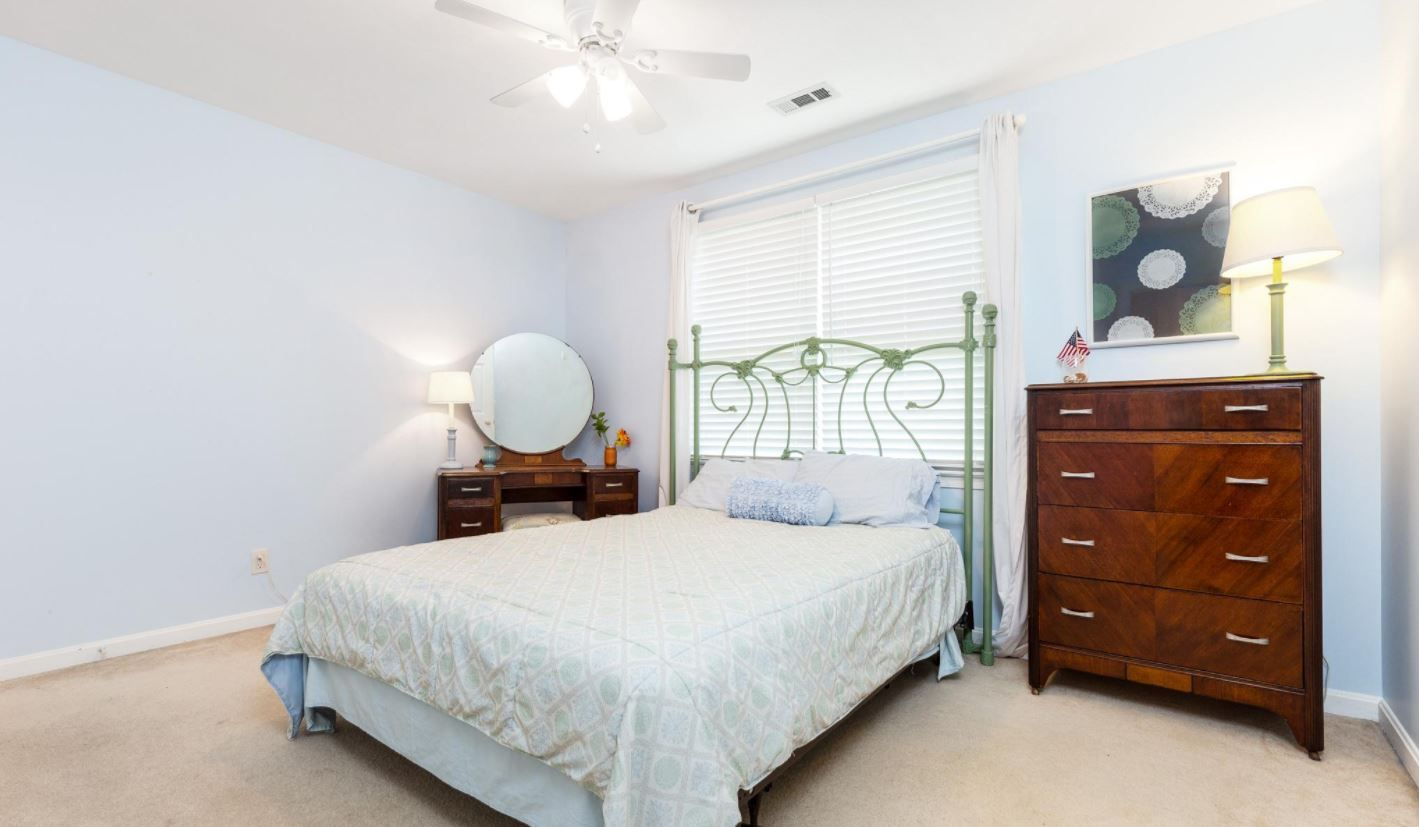 Bed on bay window  not your average cookie cutter floor plan hardwood foyer front