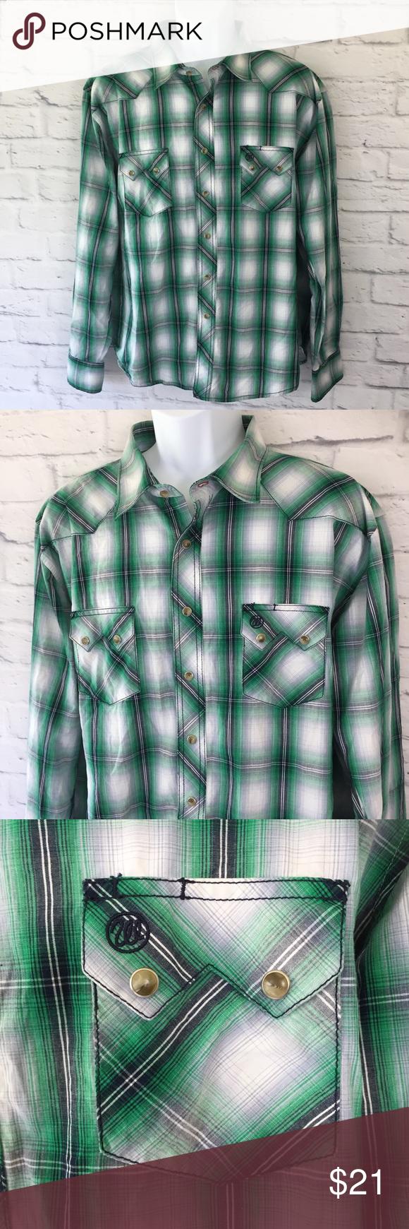 Flannel shirt knot  Wrangler Menus Flannel Shirt Button Down XXLarge Wrangler Flannel