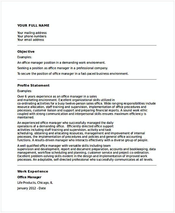Business Office Manager Resume 1 , General Manager Resume , Find the - resume name examples