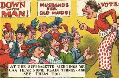 16 Shocking Vintage Posters That Warned Men About The Dangers Of Women Having Rights