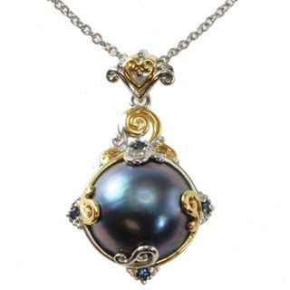 Pearls and sapphires....perfect!