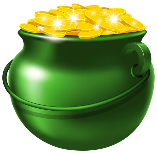 green pot of gold png clipart image st patrick s clip pinterest rh pinterest ca free clipart rainbow pot of gold free clipart pot of gold coins