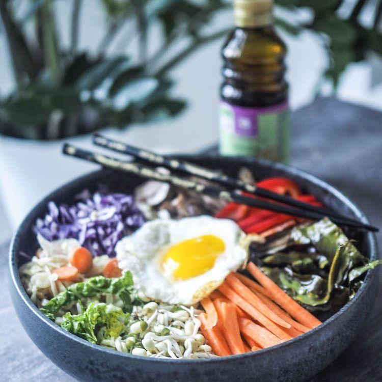 Bibimbap opskrift   Vegetarisk, glutenfri og bæredygtig aftensmad