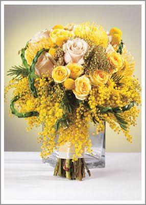Bouquet Bridal Acacia Yellow Wedding Bouquet Yellow Wedding Bouquet Wedding Flower Decorations Wedding Bouquets