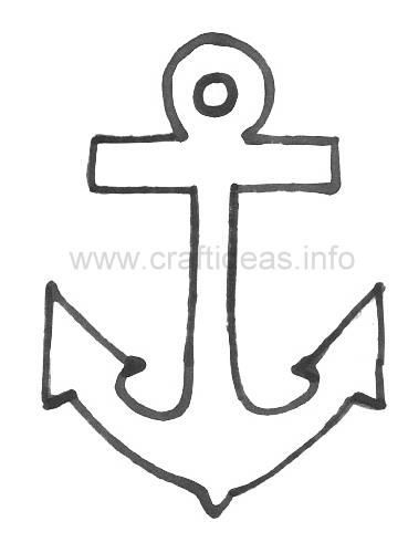 photo about Anchor Printable called anchor printable stencil if youre heading in direction of do any Do-it-yourself Military