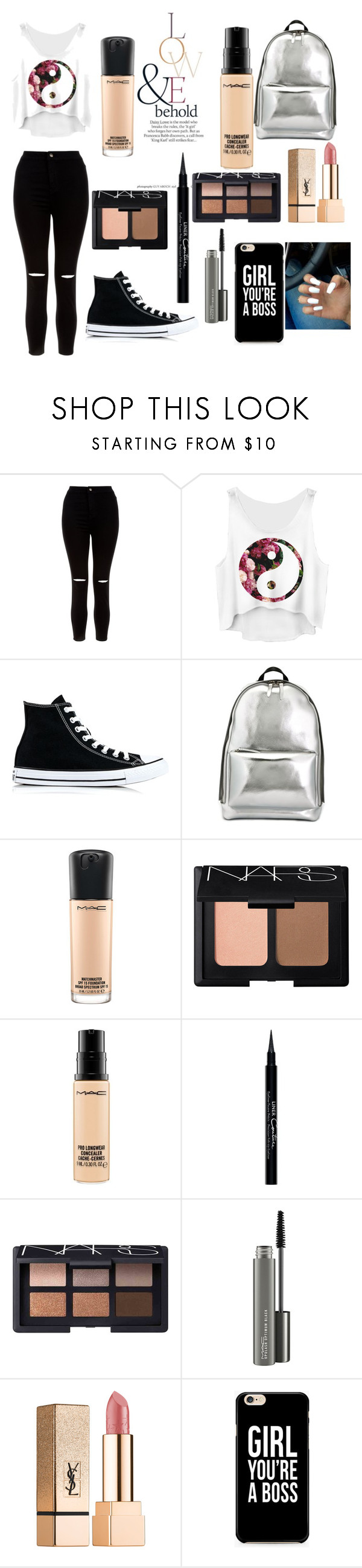 """casual day wear"" by tianamidd ❤ liked on Polyvore featuring New Look, Converse, 3.1 Phillip Lim, MAC Cosmetics, NARS Cosmetics, ASOS, Givenchy and Yves Saint Laurent"