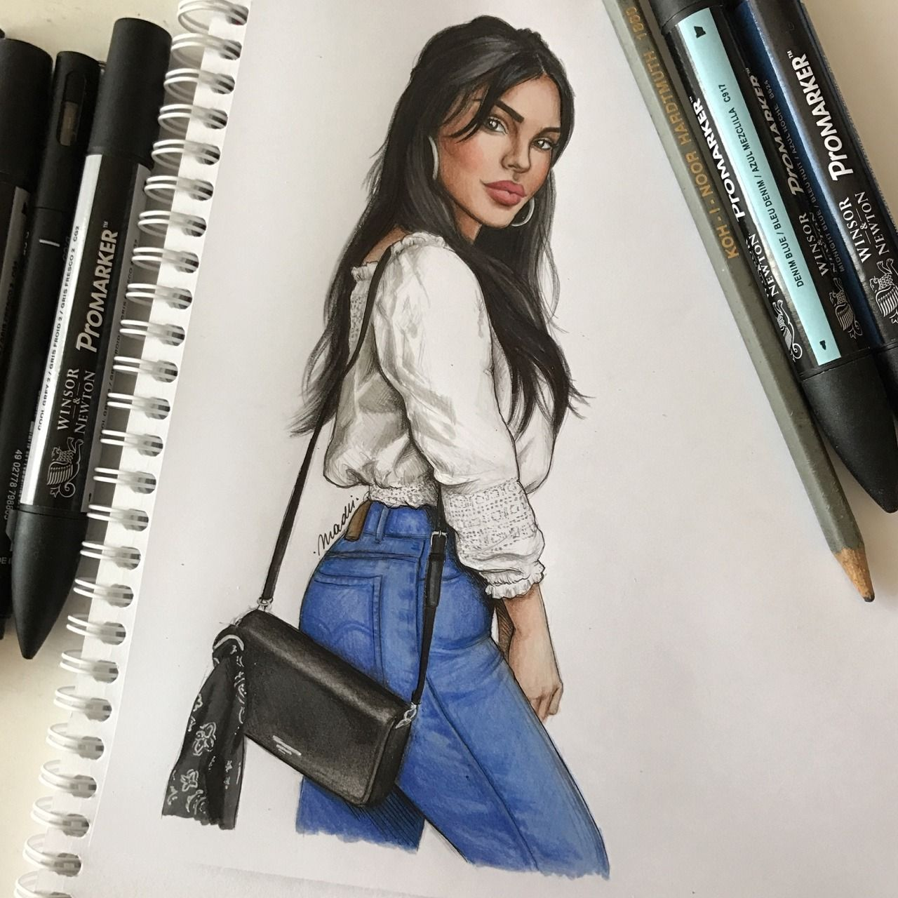 Cute girl drawings fashion really