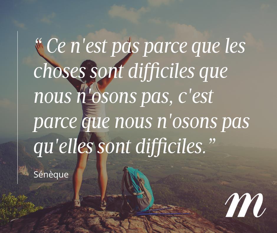 Citation Sénèque Philosophe Ambition Courage Confiance