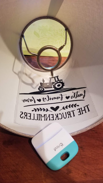 Adding Vinyl Designs To Lampshades - A Cricut Project