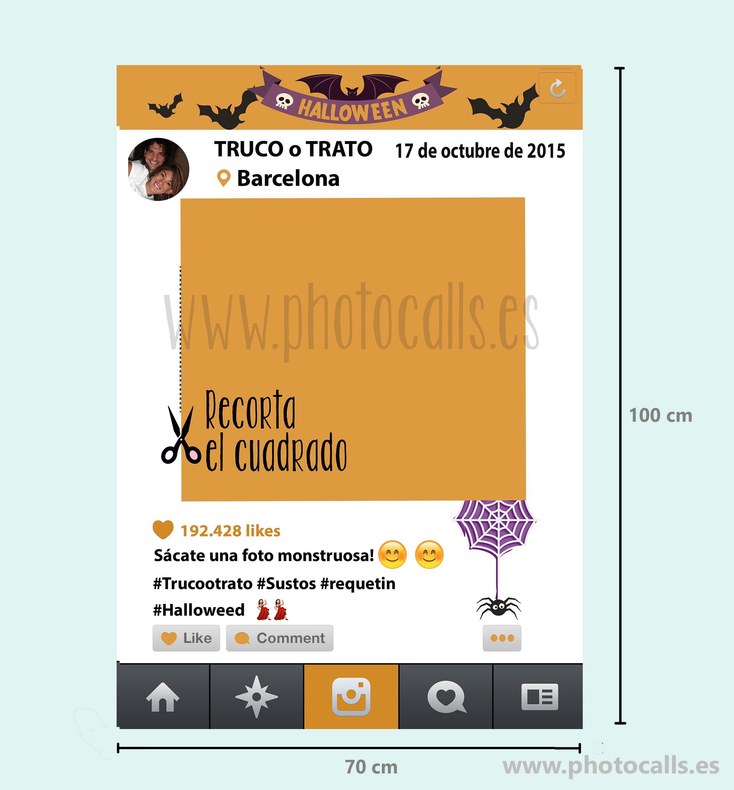 Marco Instagram Halloween para fiesta. #photocall #marcoinstagram ...