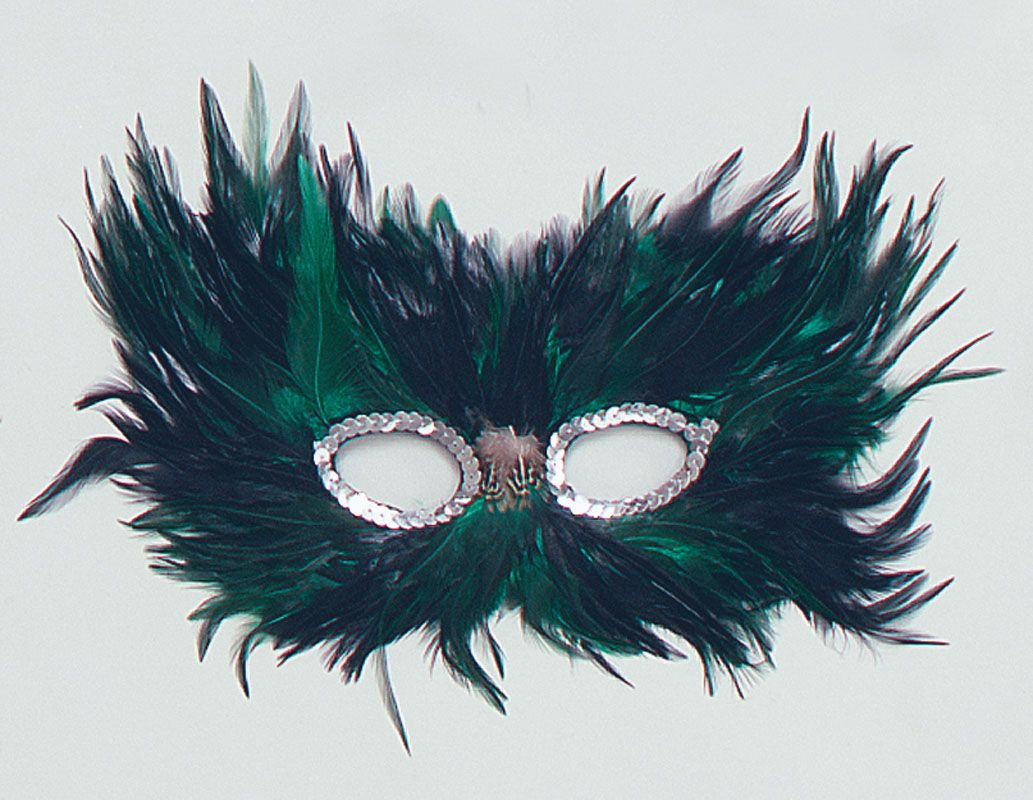 Details about DELUXE FEATHER EYE MASKS - OWL BIRD BLACK WHITE ...