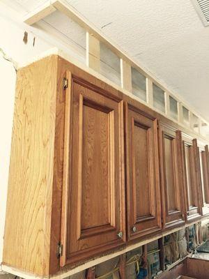 armários de cozinha em construção