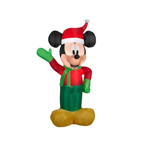 35\u0027 Inflatable Disney LED Lighted Winter Mickey Mouse Christmas - inflatable christmas yard decorations