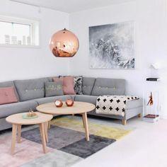Teppich Wohnzimmer Teppichmuster Skandinavische Einrichtung