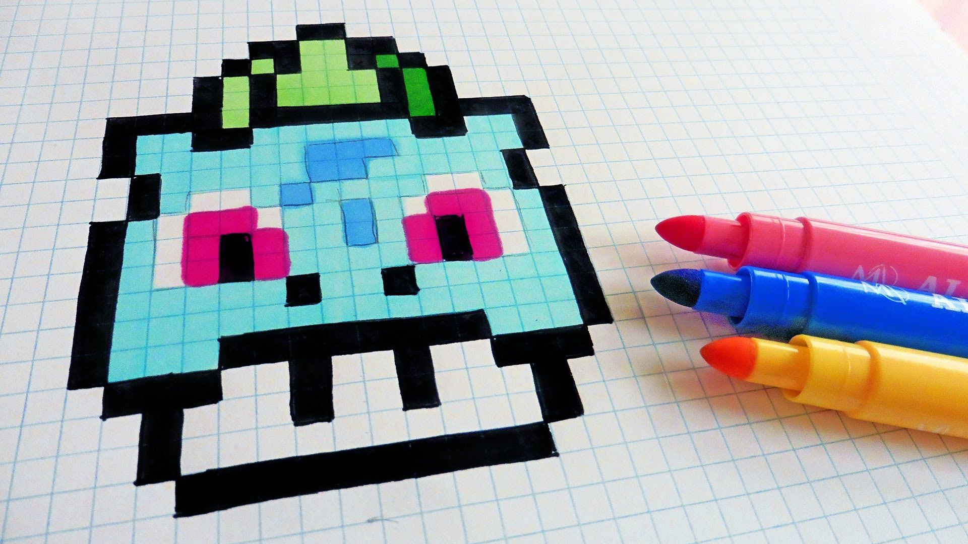 Handmade Pixel Art How To Draw Bulbasaur Mushroom