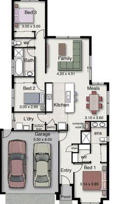 Planos de casas de 120 metros cuadrados arquitectura for Diseno de apartamentos de 45 metros cuadrados