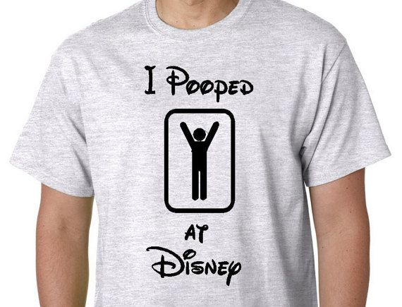 3dfd11486a Disney Family Shirts, Funny Disney Shirts, I Pooped AT Disney, Boy or Girl,  Custom Personalized Disney Vaction Shirts, Disney Shirts