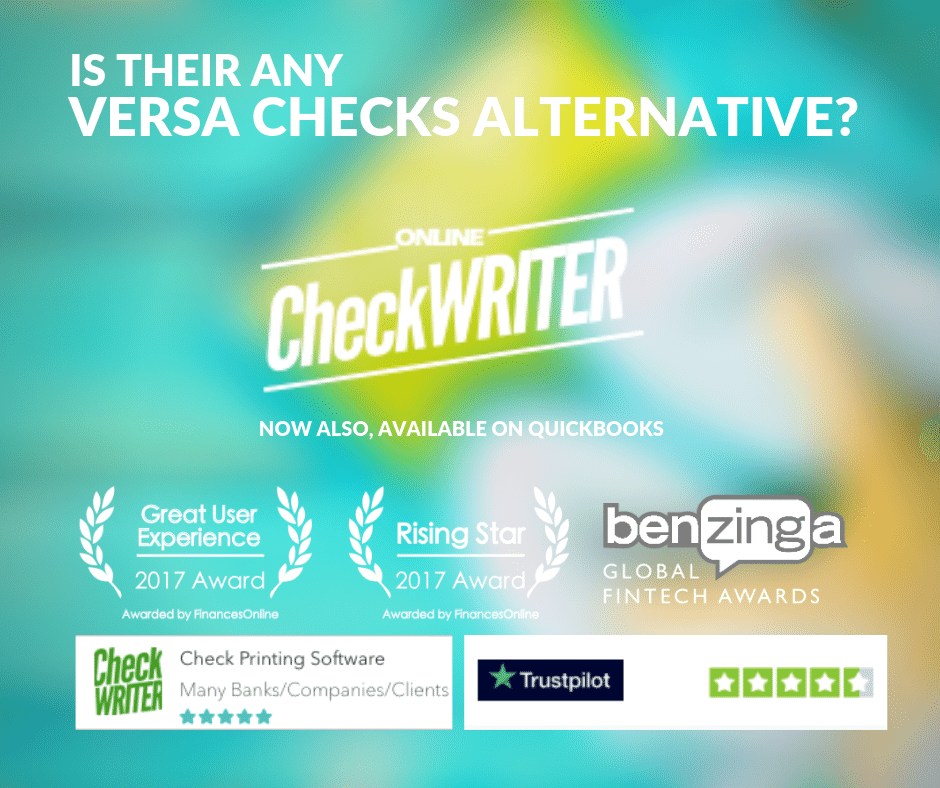 Versacheck Alternative Vs Online Check Writer Varsacheck Validation Every Time You Should Be Free Of It Having Fre Printing Software Online Checks Blank Check