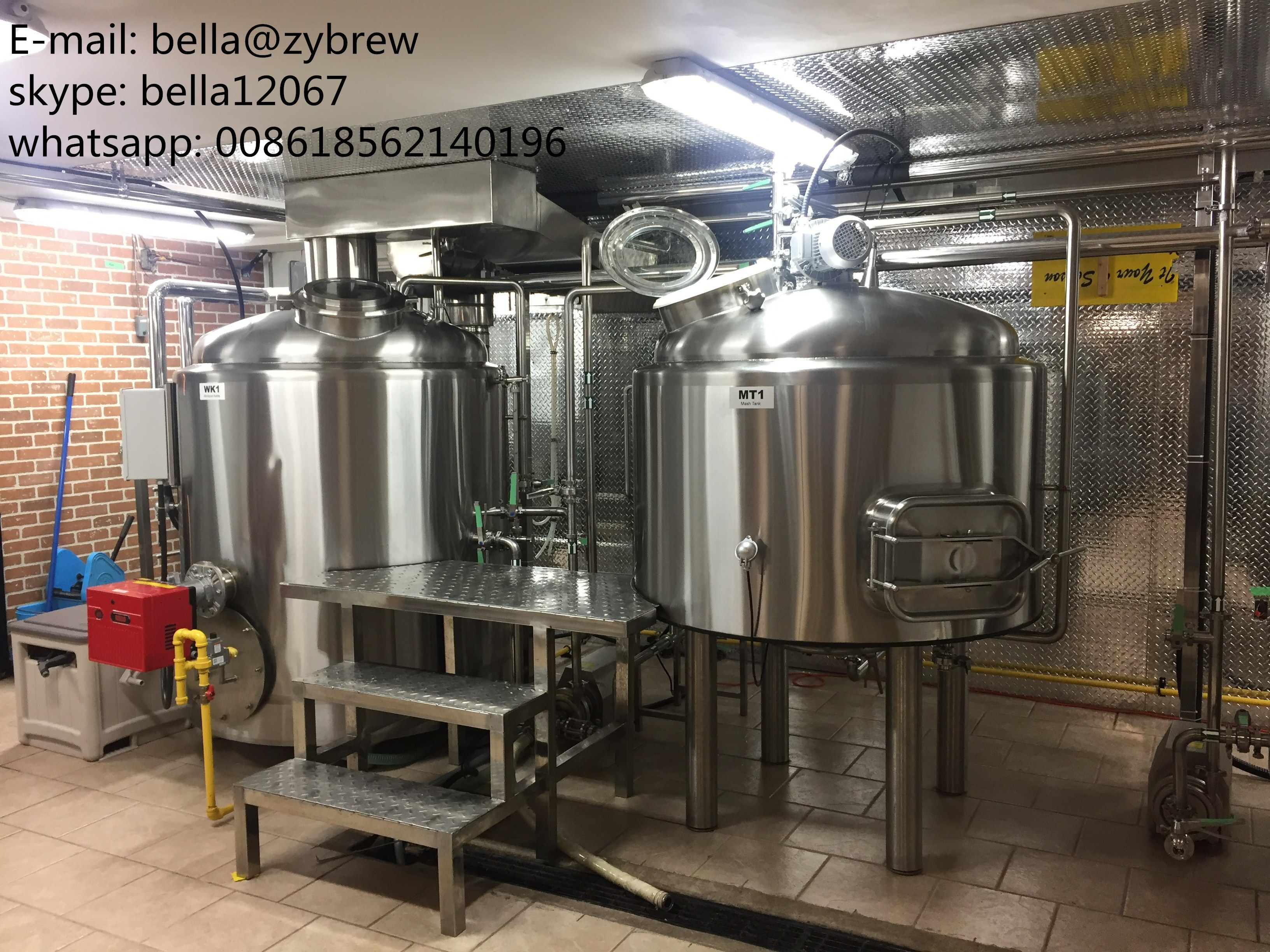 Here Is 5bbl Brewery System For Our Canada Clients Two Vessels Brew House Mash Lauter Tun Kettle Whirlpool Tun Hlt With 4 Home Brewery Brewery Micro Brewery