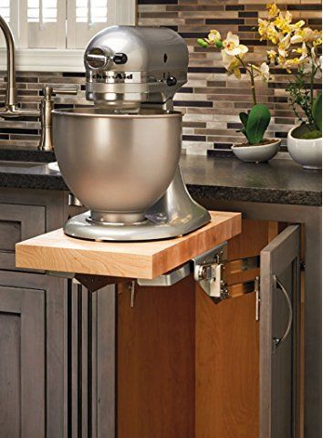 Kitchen And Mixer Television Rev A Shelf Ras Ml Hdcr Full Height Base Cabinet Heavy Duty Lift