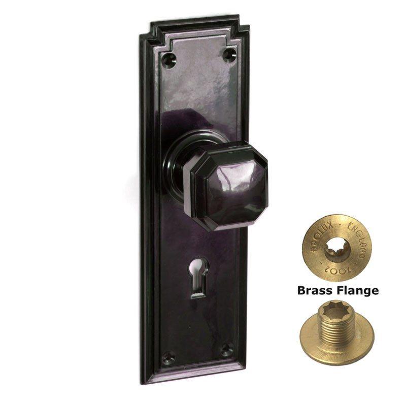 Brolux Bakelite Door Handles  BROLUX Black Art Deco Bakelite Door Knobs  sc 1 st  Pinterest & Brolux Bakelite Door Handles : BROLUX Black Art Deco Bakelite Door ...