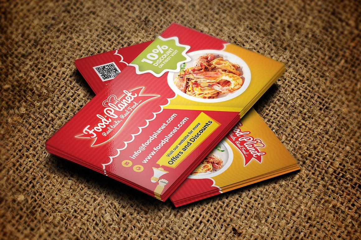 Food and restaurant business card restaurant business