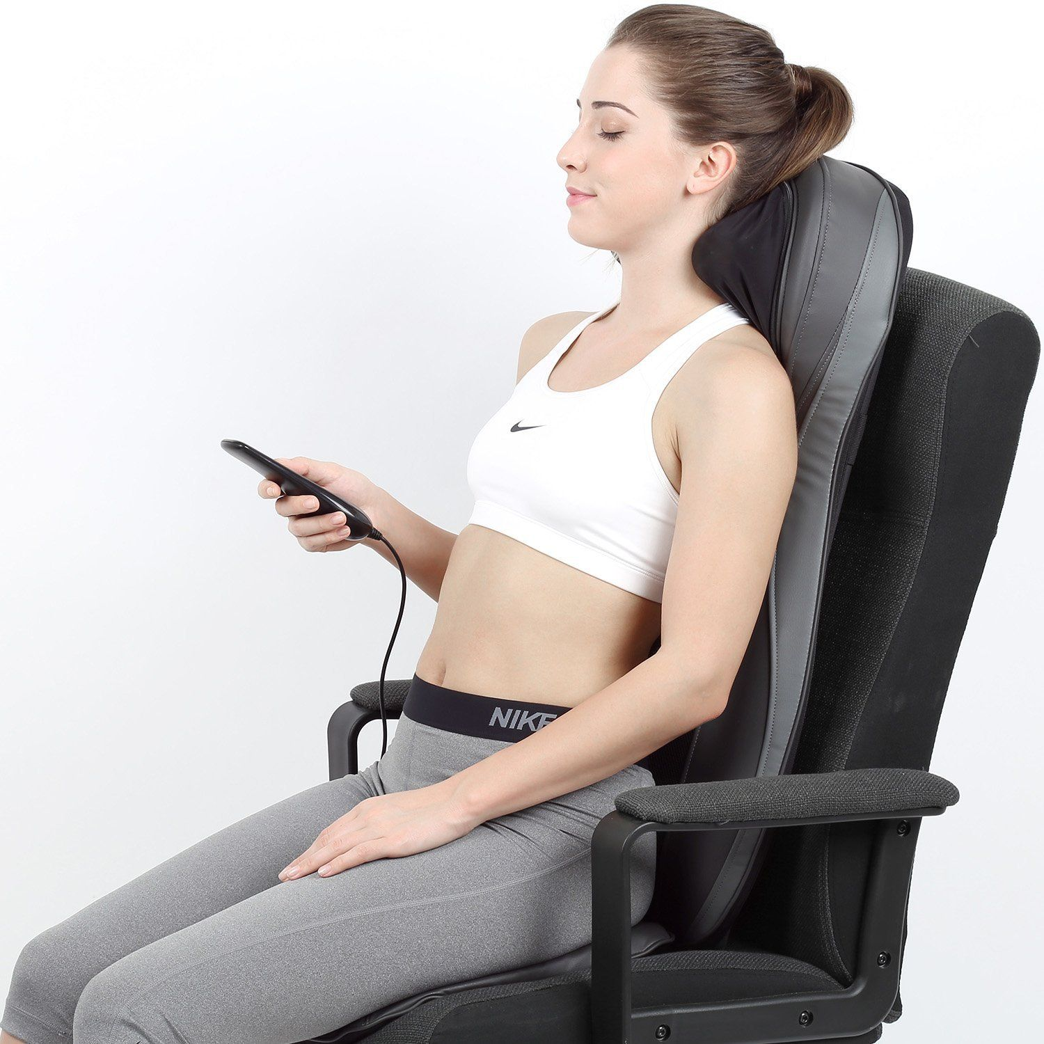 Amazon Com Shiatsu Back Massage Seat Cushion With Heat 2d Or 3d Finger Pressure Shiatsu Full Back Massage Chair Pads Outdoor Chaise Lounge Chair Massage Chair
