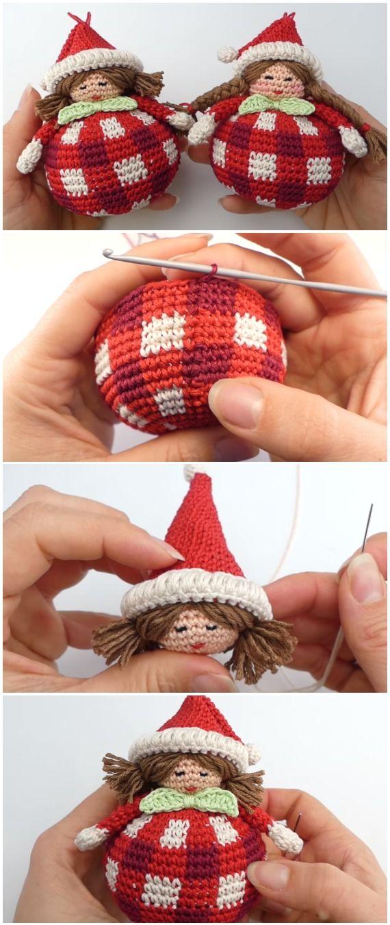 Crochet Christmas Dolls Amigurumi #amigurumicrochet