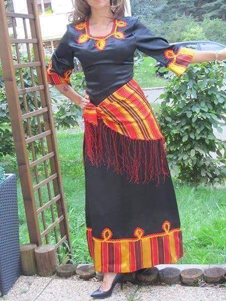 robe kabyle moderne robe kabyle pinterest robe. Black Bedroom Furniture Sets. Home Design Ideas