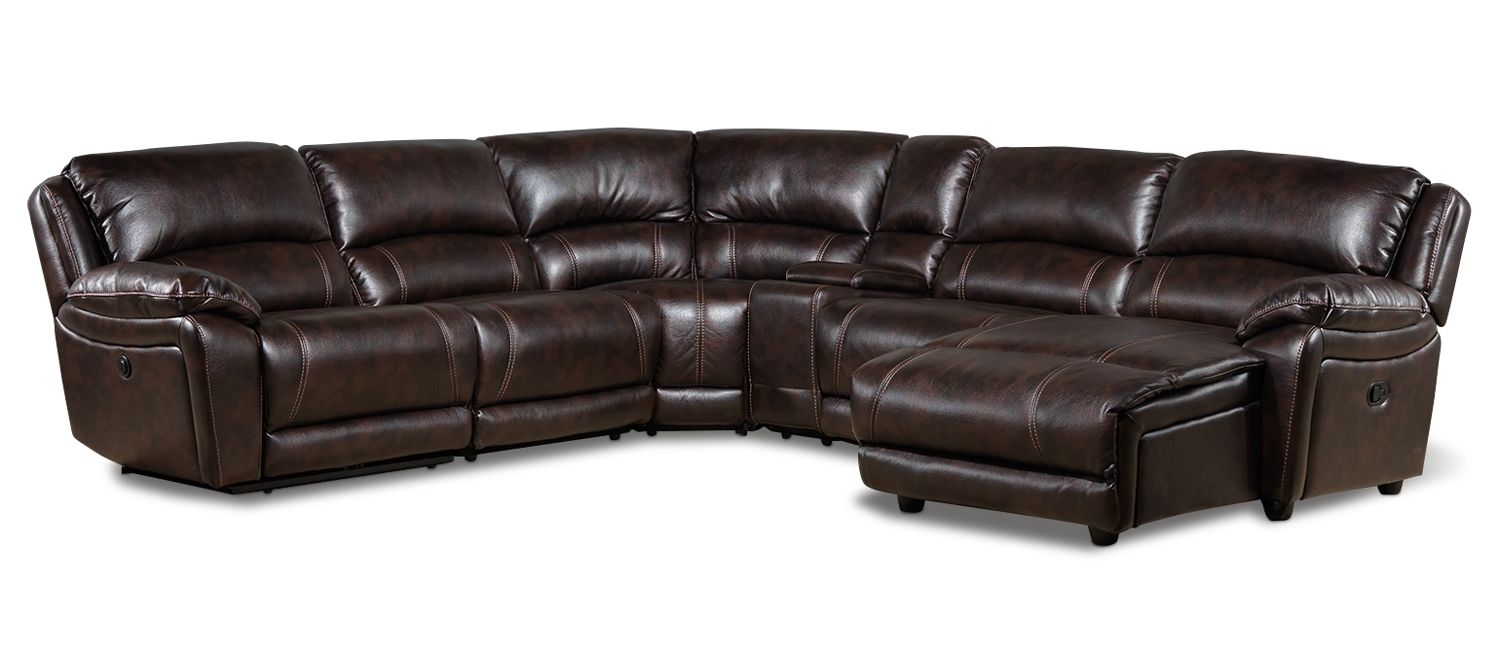 Santorini II Upholstery 6 Pc. Power Sectional (Reverse)   Leonu0027s  #LeonsKrisKringle