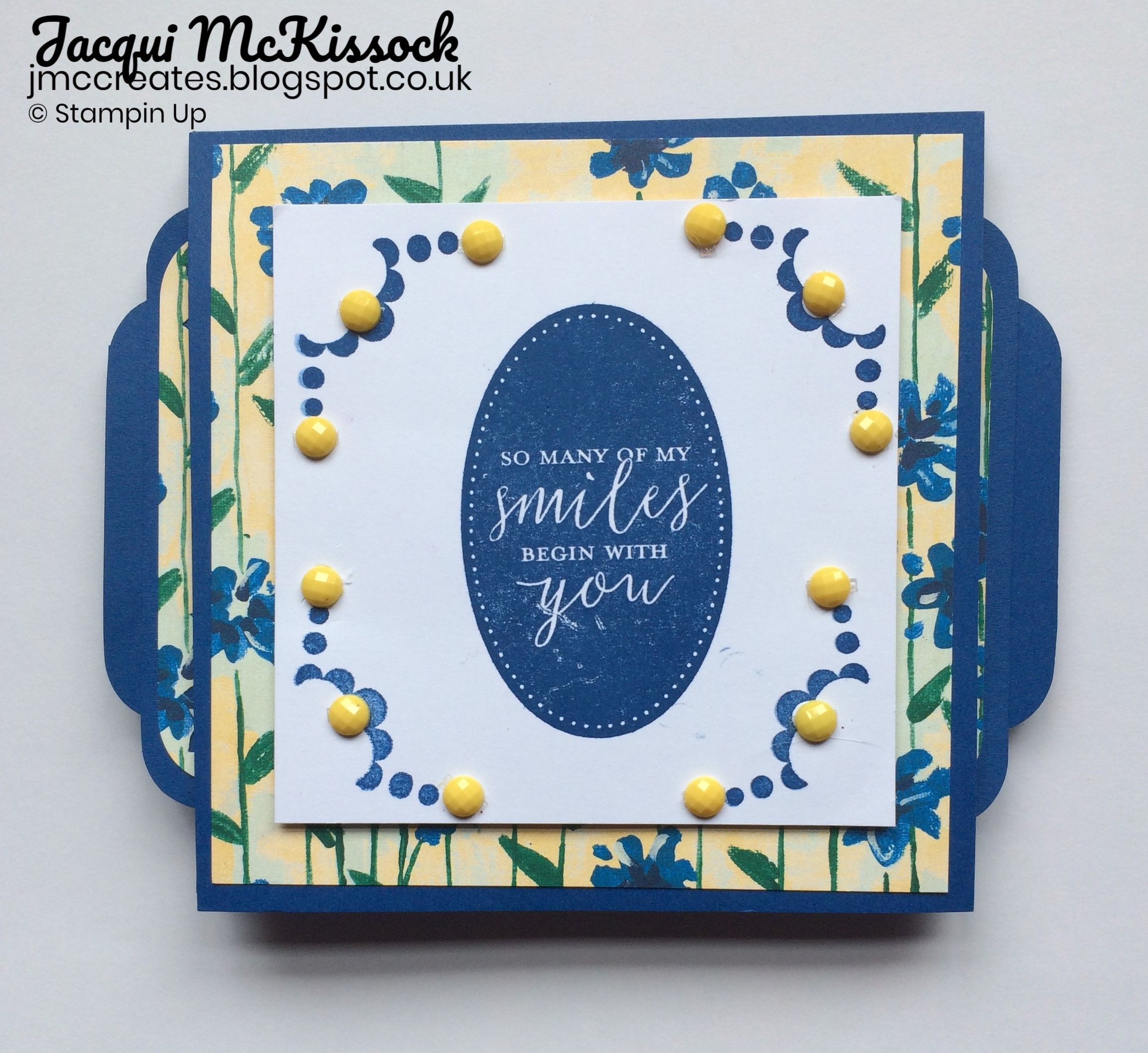 stampin up items used garden impressions dsp blueberry