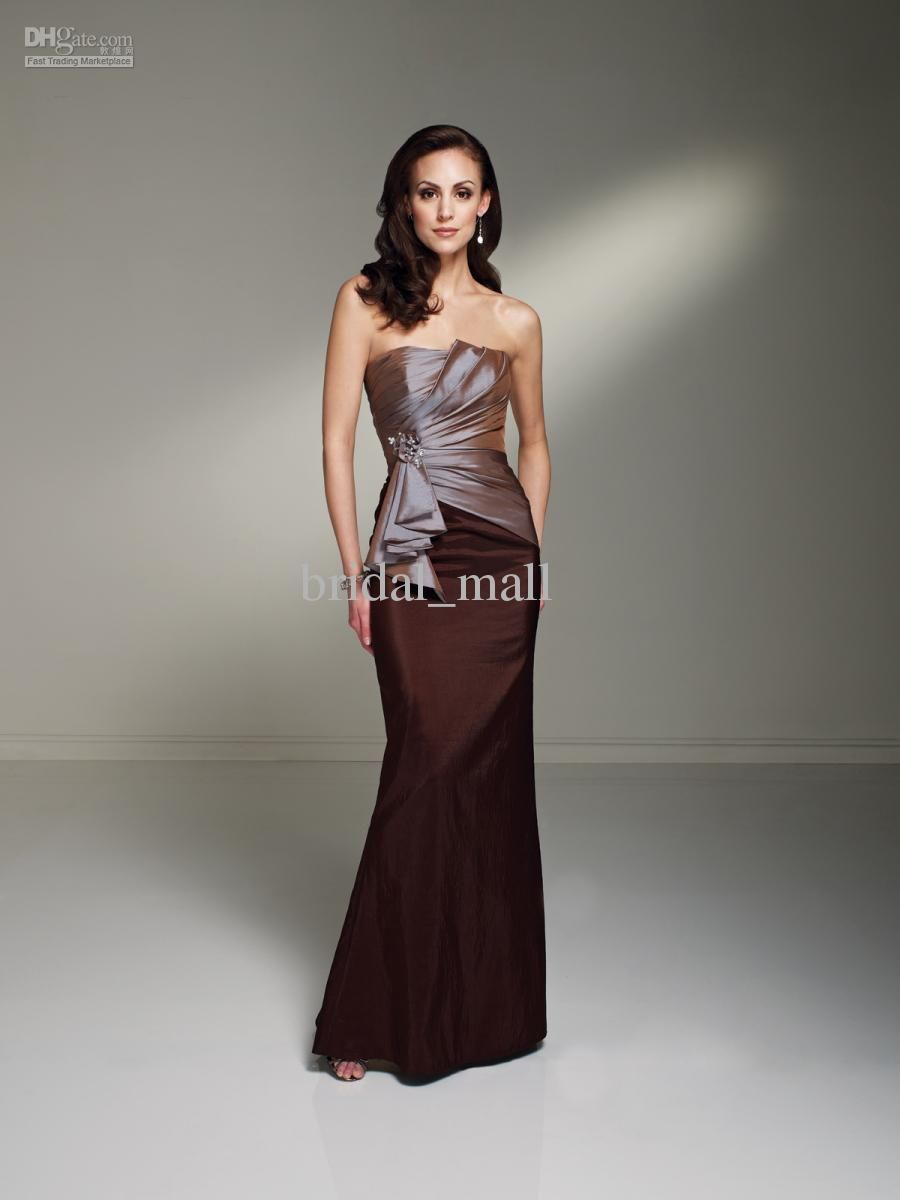 Charming elegant ruched teal chocolate brown two tones sexy ...