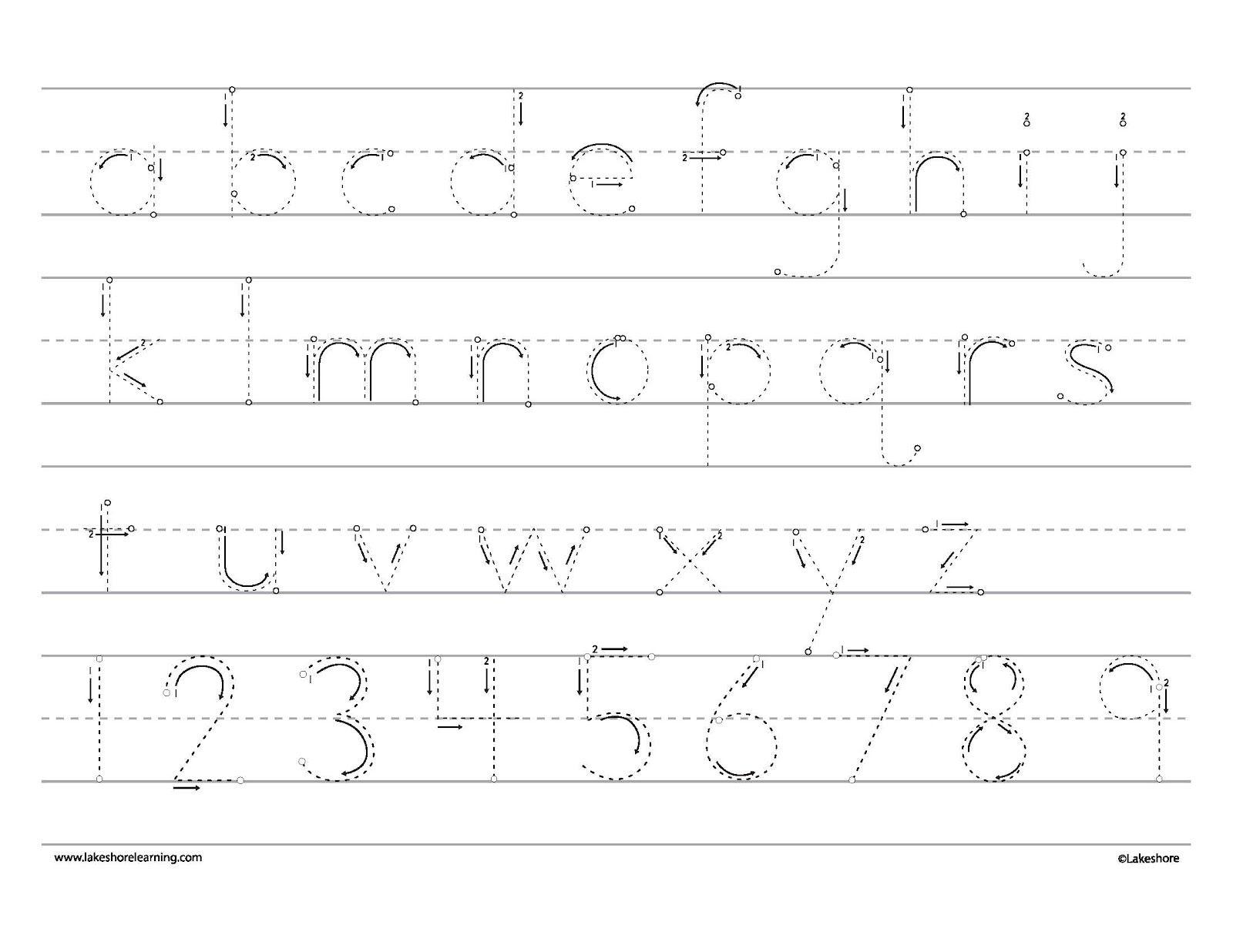 Tracing Cards Alphabet