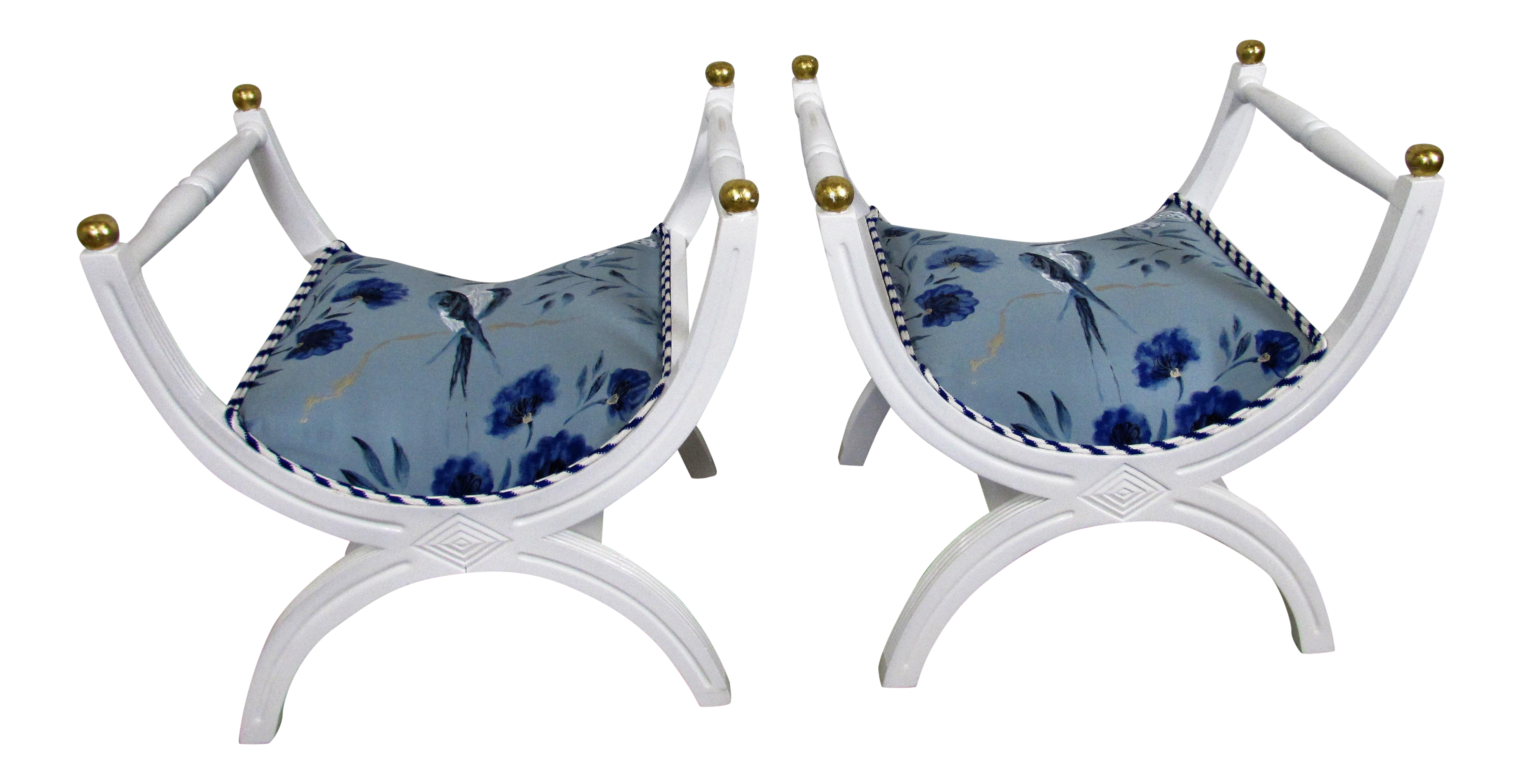 lucite stools x product a bench vintage pair benches velvet blue hollywood decaso excellent regency