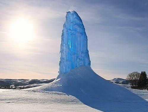 Frozen Geyser....Yellowstone