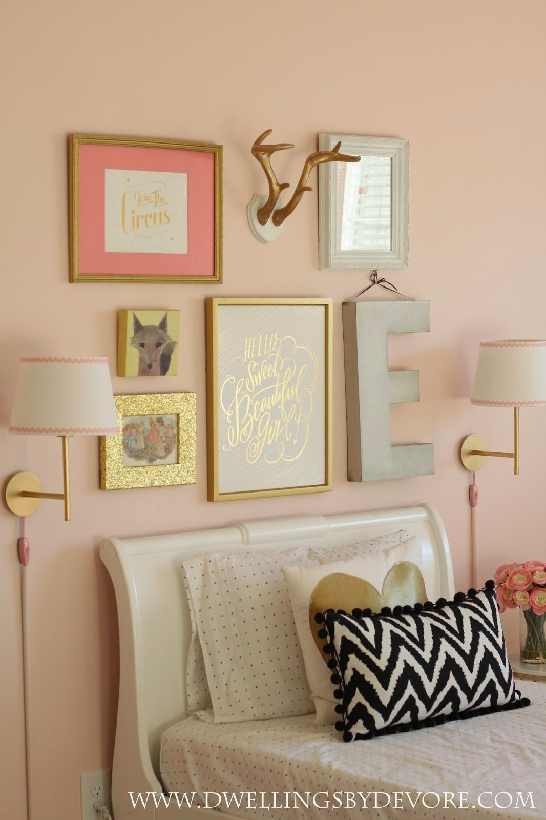 Sweet Girls Room Gallery Wall Wall Sconces Kids Rooms