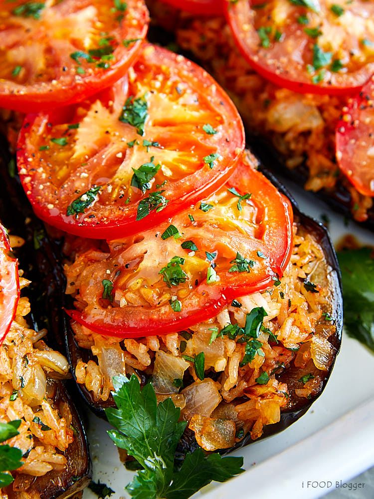 Fried Eggplant With Rice And Tomatoes Ifoodbloggercom