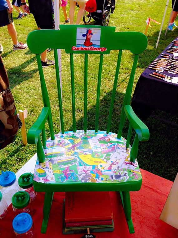Curious george rocking chair curious george room by for Curious george bedroom ideas