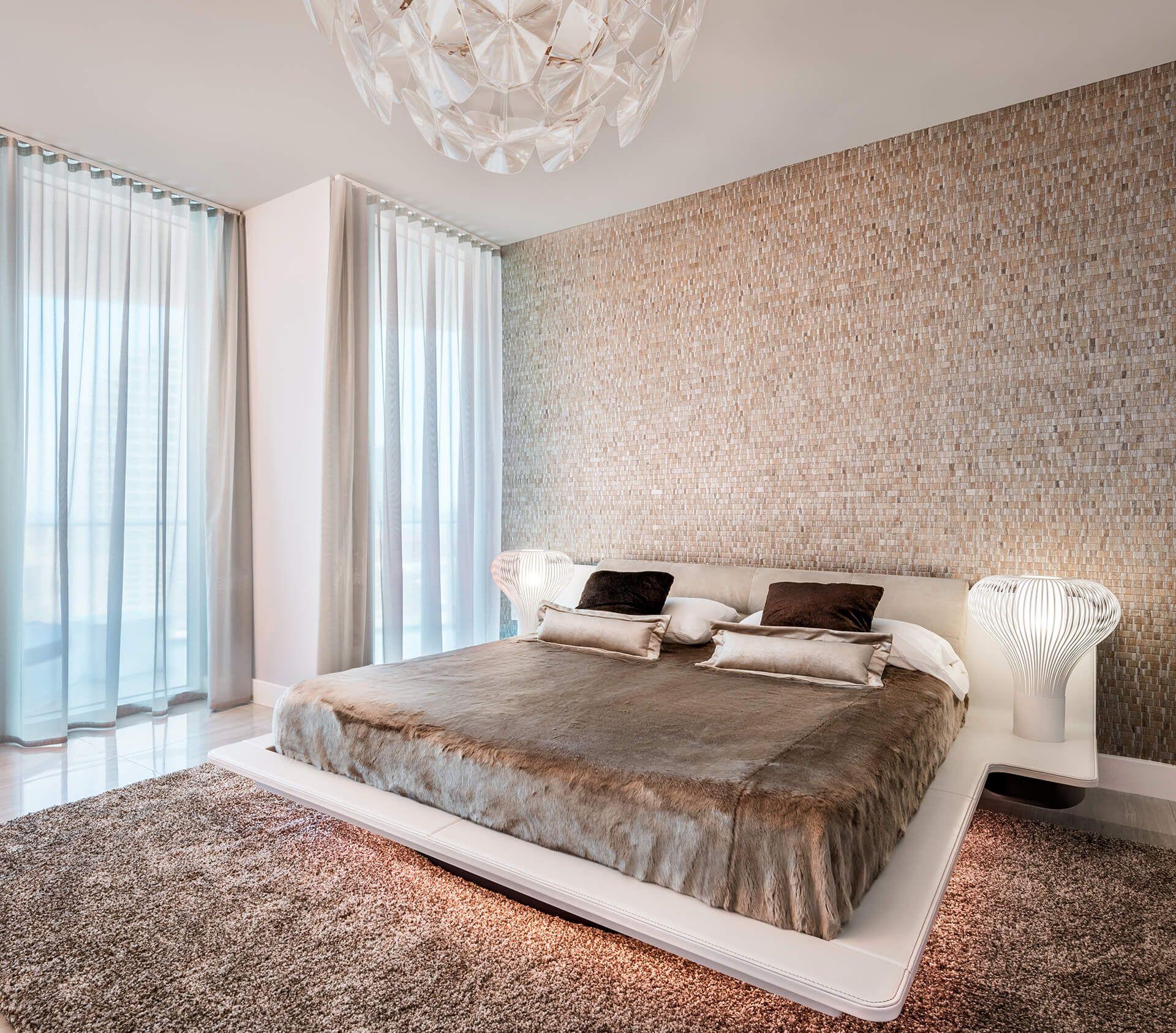 Serene Minimalist Bedroom Nomad Wallcoverings By Omexco Interior Design Dawn Elise Interiors Www Dawneliseint Home Decor Interior Design Minimalist Bedroom