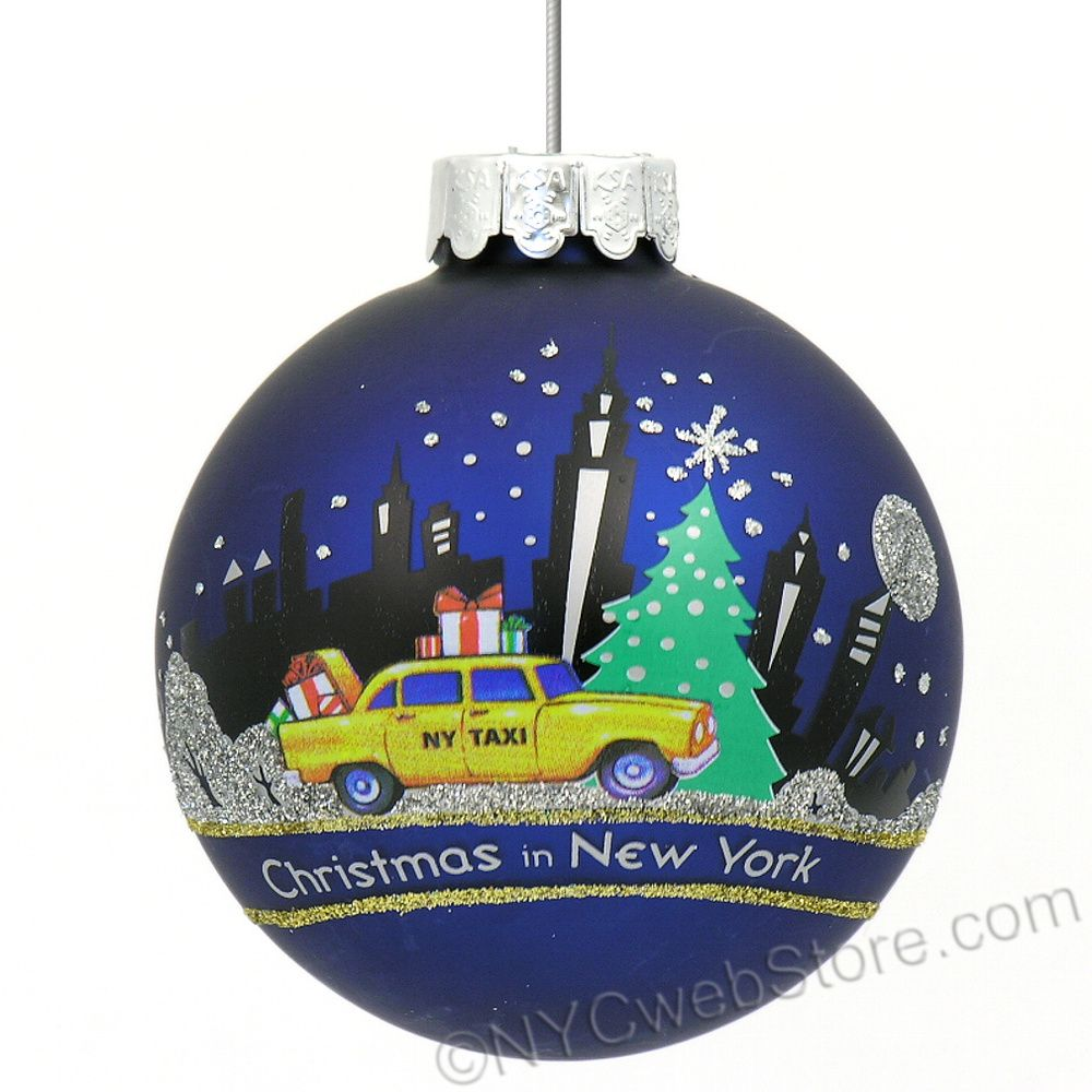 NYCwebStore.com - NYC Taxi Glass Ball Ornament, $14.99 (http://www.nycwebstore.com/nyc-taxi-glass-ball-ornament/)