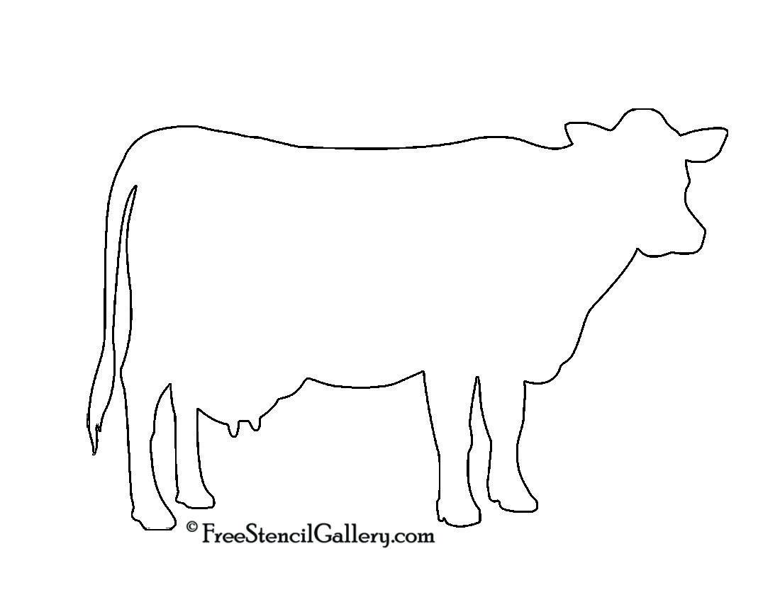 Cow Silhouette Stencil