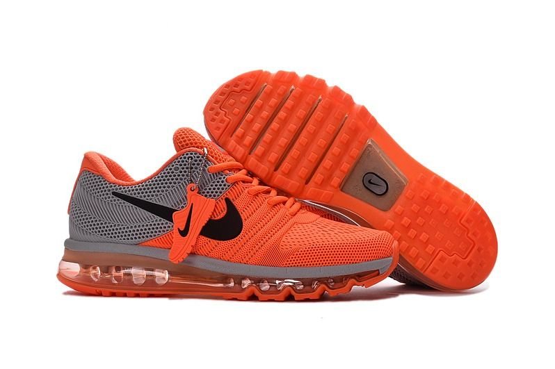 brand new 14163 e14fa Nike Air Max 2017 Orange Grey Men Shoes