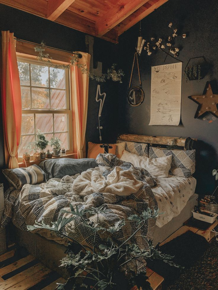 Photo of 25 #artsy #room #plants A mixture of modern Bohemian and industrial …