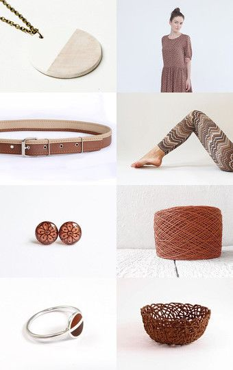 Brown collection by maya ben cohen on Etsy--Pinned with TreasuryPin.com