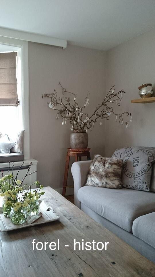 Histor Forel Mooie Huis Inrichting Interieur Woonkamer Taupe Muren
