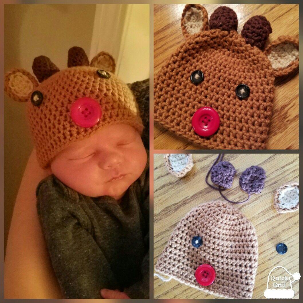 64a3b96342a Reindeer hat baby Carter! Dec 2016
