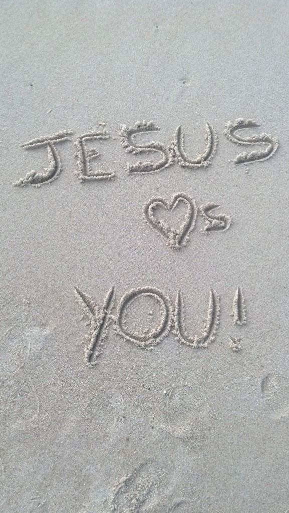 Wrote this in the sand of Outer Banks, NC.    Never forget this. (: