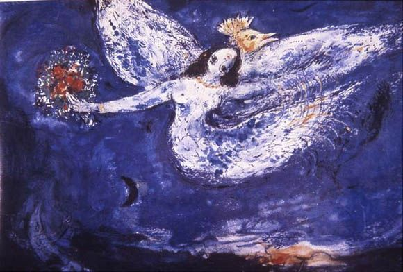 Chagall, Firebird, painted for the NYC ballet